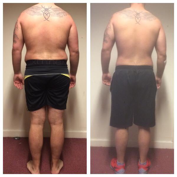 Carl Body Transformation, Back View